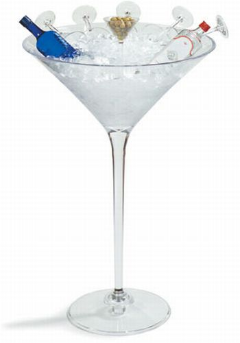 Giant Martini Glass Ice Bucket Chills Your Wine With