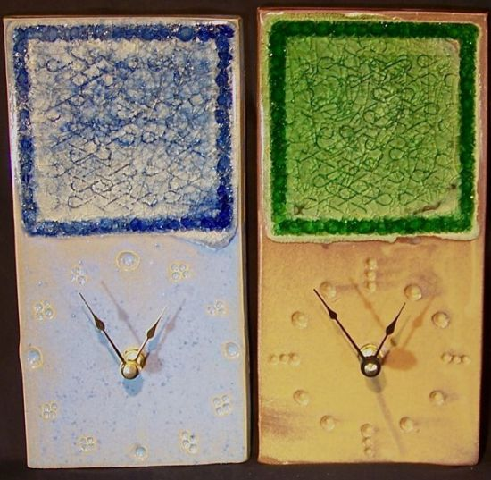 glass pottery clocks1
