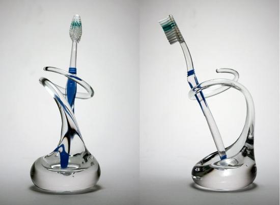 glass toothbrush holder brad turner