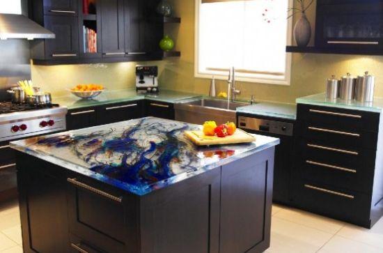 Stunning kitchen countertops from Think Glass - Hometone