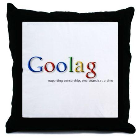 goolag exporting censorship throw pillow