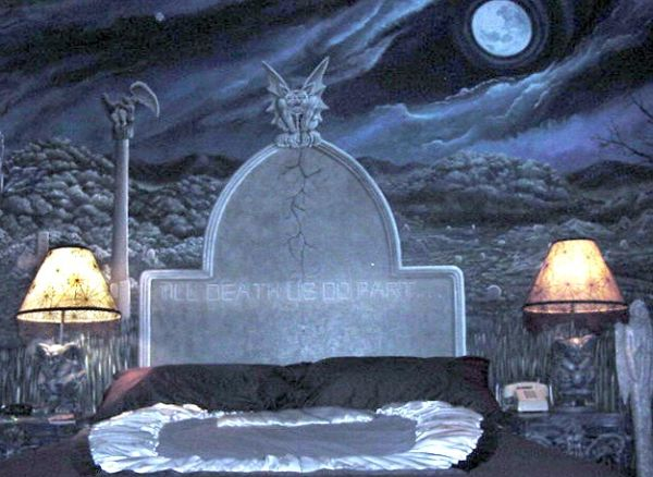 gothic themed bedroom
