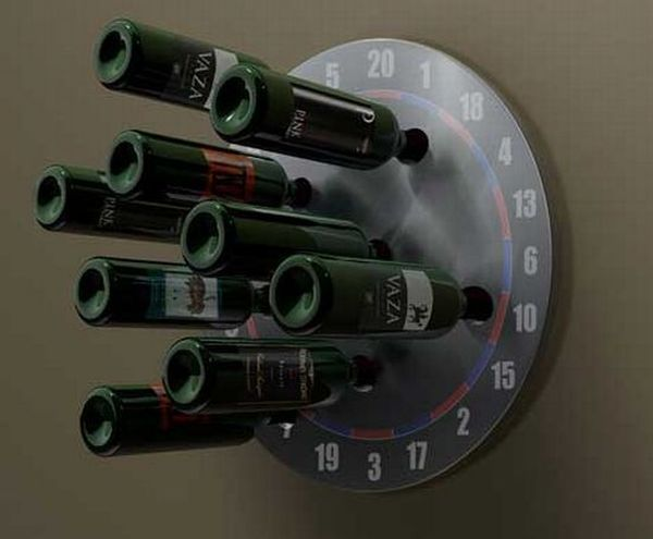 Gottacha dartboard wine rack