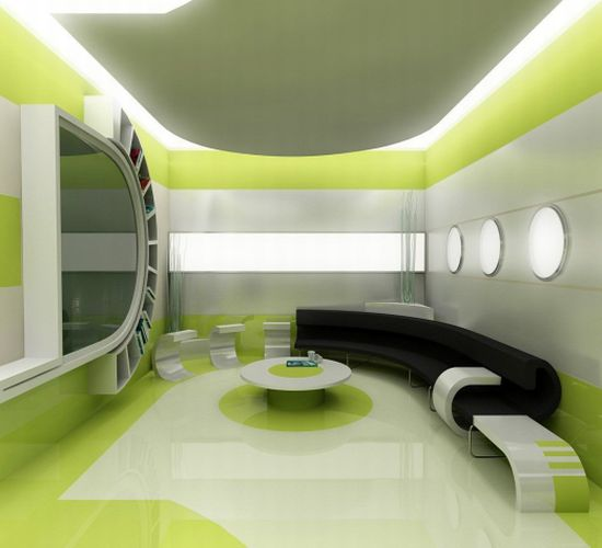 green themed house4