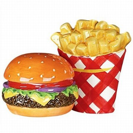 grill time hamburger and fries salt and pepper sha
