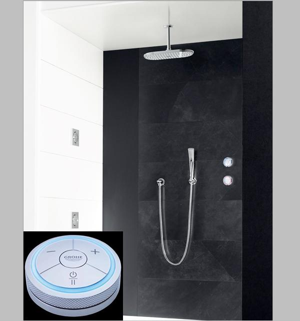 grohe digital faucet with shower and controller