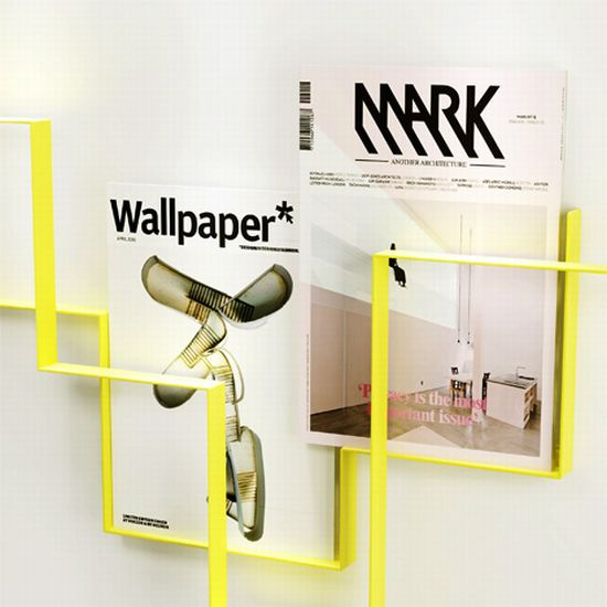 Guidelines magazine rack for trendy interiors hometone for Trendy magazine rack