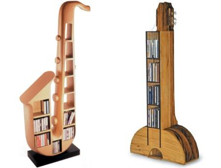 guitar cd rack and sax rack