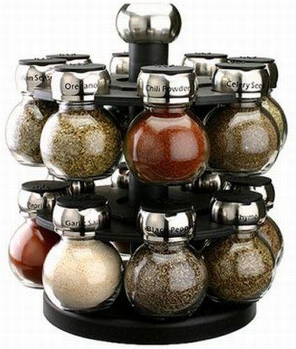 handy and trendy 16 jar orbit spice rack