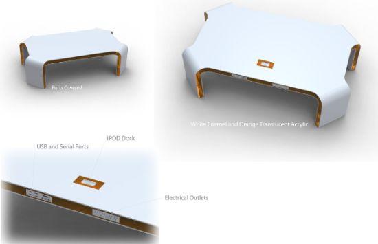 hi tech coffee table