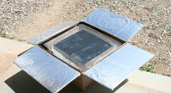 how to make working model of solar cooker