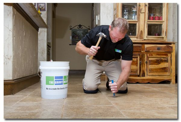 How to fix a broken floor tile