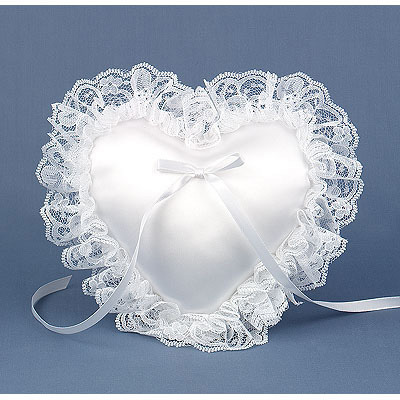 How to make a lace trimmed heart shaped pillow