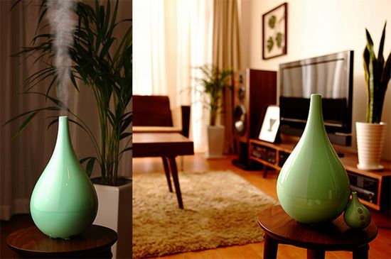 Middle colors humidifier supersonic wave by hironao tsuboi for Living room humidifier