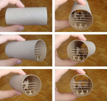 Paper Roll Art Design