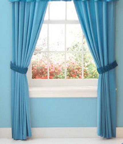 Blue Curtain Wall : Curtains matching blue walls curtain menzilperde