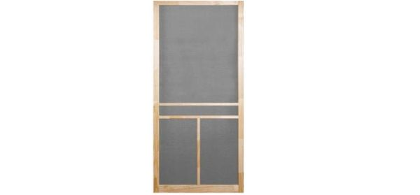 Screen Tight Colonial 36 In. Wood Unfinished Screen Door