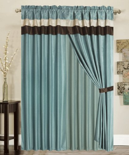 This Fine Home Curtain Has A Silky Finish And Is Simple Accessory Which When Hanged Decorates The Room Beautifully It Strip Of Chocolate Color At