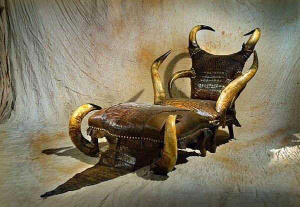 Marvelous Michel Haillardu0027s Exotic Wildlife Chair