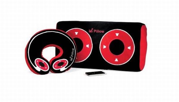 Hi tech pillows with built in music systems hometone for Music speaker pillow