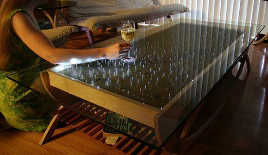 interactive ledd coffee table