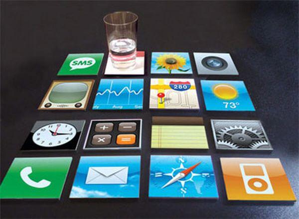 iPhone coaster set