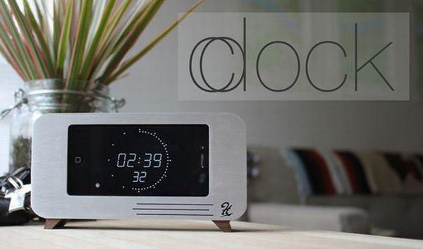 iPhone dock cum clock