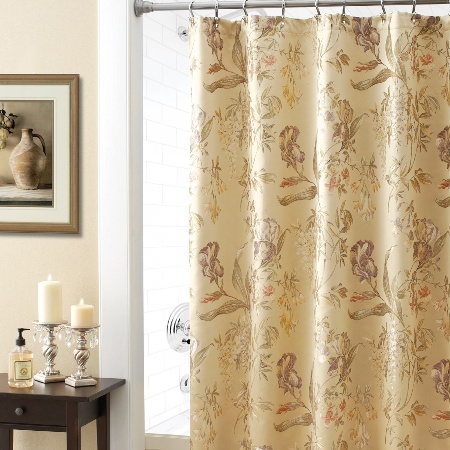 Croft And Barrow Shower Curtains Croscill Wisteria Shower Curtain