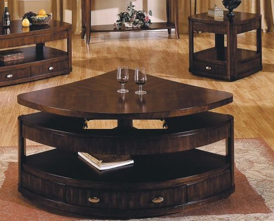 Isabelle Corner Lift-top Coffee and End Table Set to perk up your ...