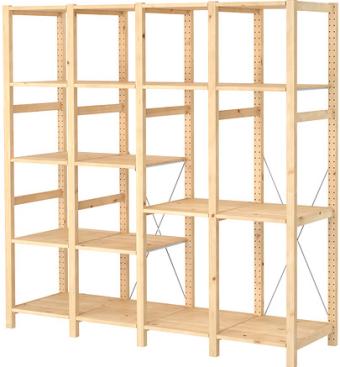 Bon Ivar: A Shelf Unit Of Four Sections
