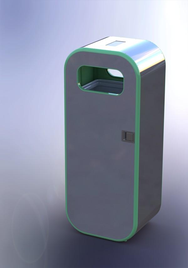 Kaiju interactive waste bin
