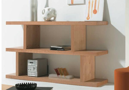 Modern Wood Shelves : Kasumi modern wooden shelf