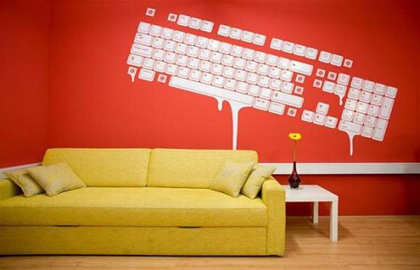 Keyboard wall decal