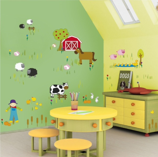 Kid's room with wall stickers