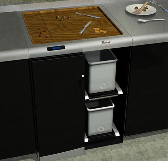 kitchen waste management concept