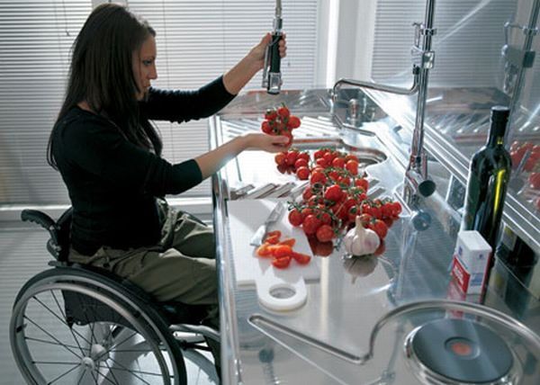 Kitchen designs for the physically challenged