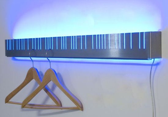 kleiderleiste illuminated coat rack