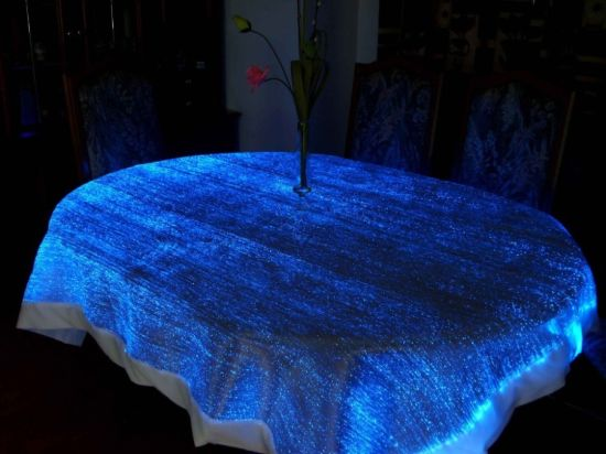 Ordinaire Table Cover And That Too LED Is A Match Made In Heaven For A Perfect  Setting In Your Dining Room. The Fiber Optics Cloths Illuminate Beautifully  And Create ...