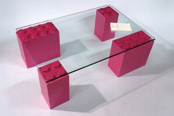 Eight creative lego furniture designs for modern spaces for Table design lego
