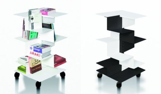 Librespiral From Gerardo Mari Is A Bookcase Thatu0027s Made Up Of Rolled Sheet  Metal Layers And Comes In Glossy Finish To Compliment Your Modern Home  Decor. Images