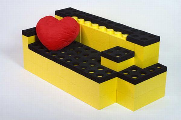 Life-size Lego Sofa