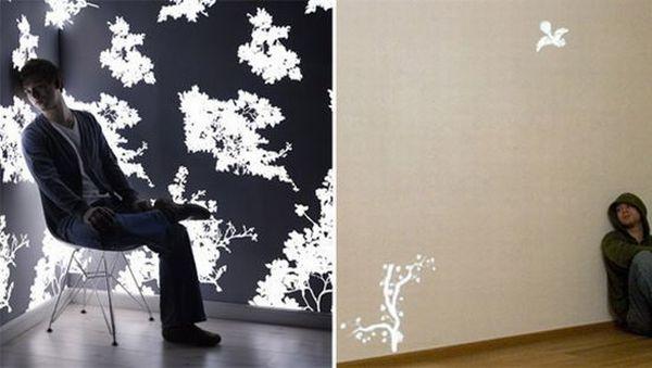 Light emitting wallpaper