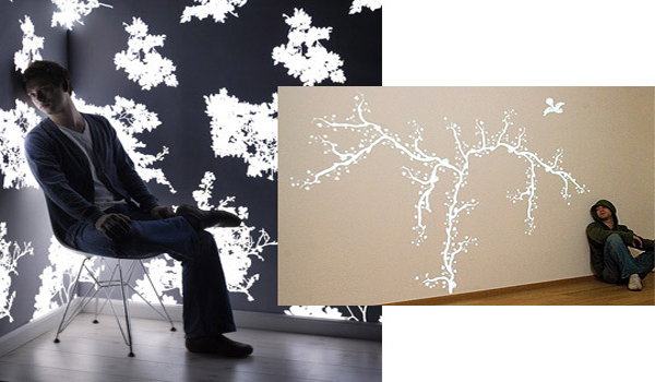 Light emmiting wall paper