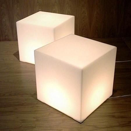 Lightbox Cube A Lamp A Stool A Table All In One