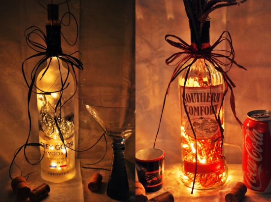 lighted liquor bottles m and m designs