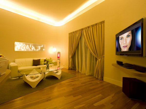 Living room lighting which effect to choose hometone - Cool lighting effects for your room ...