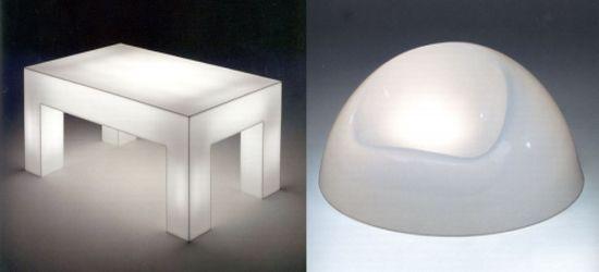luminous table and luminous chair