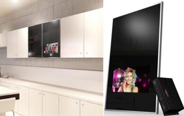 luxurite cabinet door mirror tv