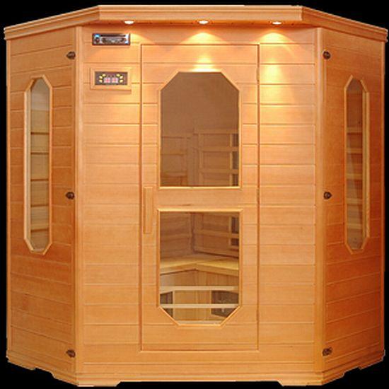 luxury corner sauna