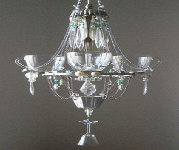 Madeleine Boulesteix's recycled kitchen chandelier